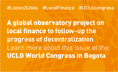 Financing the Urban Agenda.Policy Dialogue World Summit Bogotá