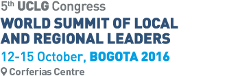 Logo World Summit Bogota 2016. UCLG Congress