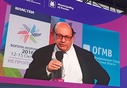 Josep Roig presenting the Bogota 2016 World Summit in Kazan