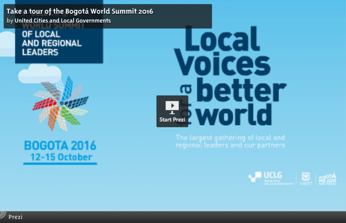 Take a tour of the Bogotá World Summit 2016